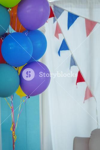 Close up of party balloons