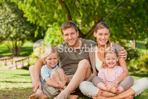 Lovely family in the park