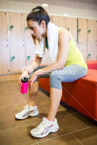 Tired woman after a workout