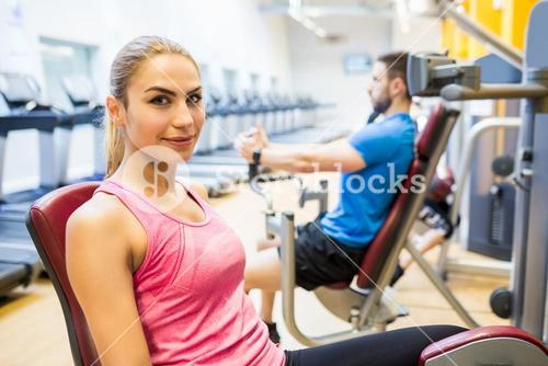 Fit people using weights machines