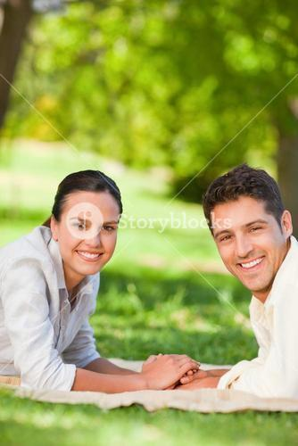 Lovely couple in the park