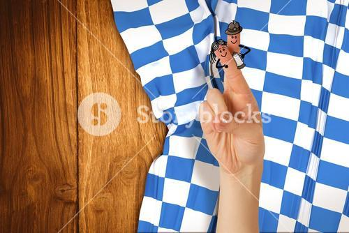 Composite image of oktoberfest character fingers