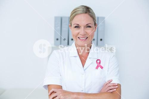 Composite image of pink breast cancer awareness ribbon