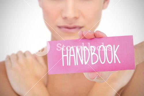 Handbook against white background with vignette