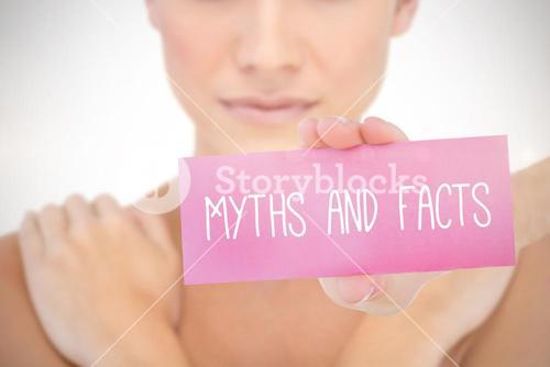 Myths and facts against white background with vignette