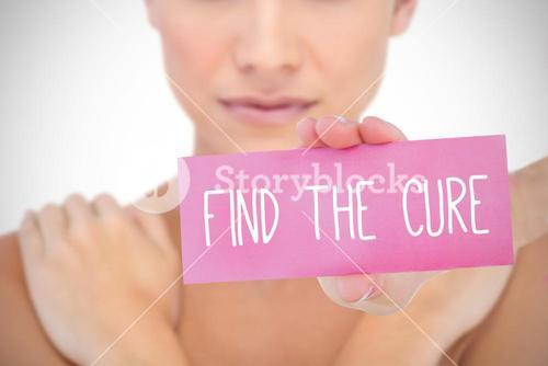 Find the cure against white background with vignette
