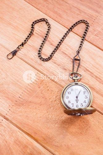 Close up view of a pocket watch