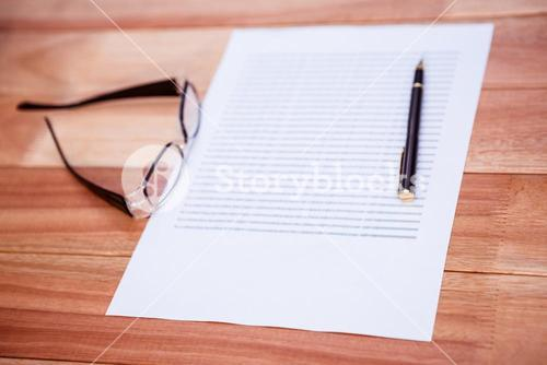 Close up view of a piece of paper