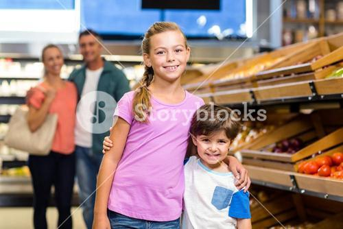 Young family doing some shopping