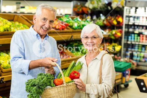 Senior couple doing some shopping together