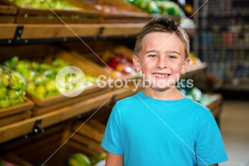 Portrait of smiling little boy