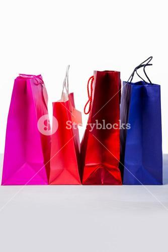 Gift bags on table