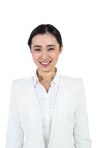 SMiling businesswoman smartly dressed