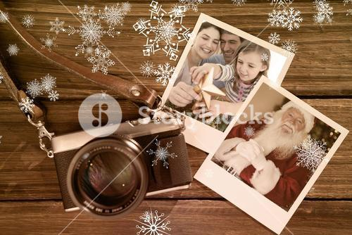 Composite image of family christmas portrait