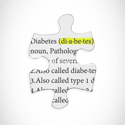 Composite image of diabetes illness