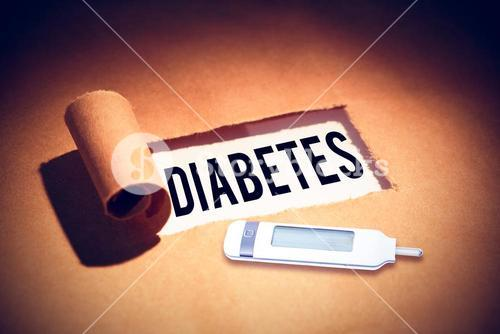 Composite image of diabetes