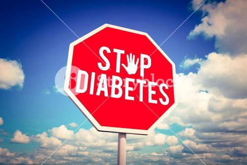Composite image of stop diabetes