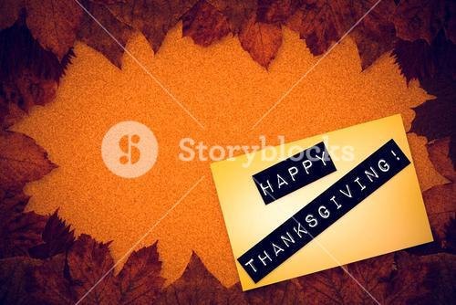 Composite image of happy thanksgiving