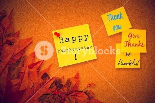 Composite image of thank you