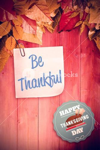 Composite image of happy thanksgiving day