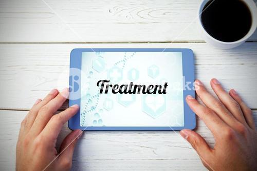 Treatment against person using tablet computer