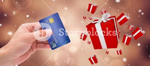 Composite image of world credit card