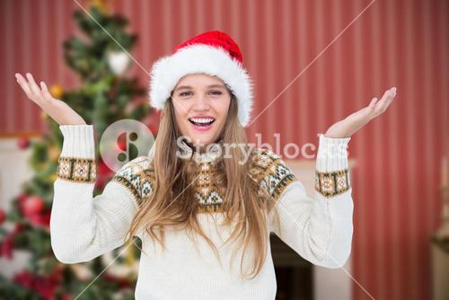 Composite image of smiling hipster looking at camera