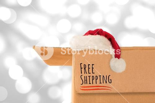 Composite image of free shipping