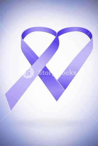 Composite image of purple ribbon