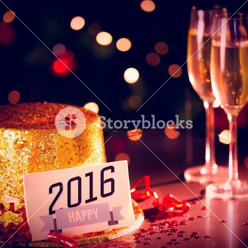 Table at new years eve celebration