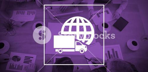 Composite image of logistics graphic