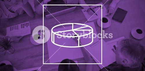 Composite image of digital image of pie chart