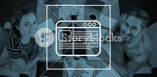 Composite image of business card