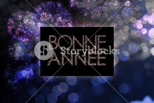 Composite image of glittering bonne annee