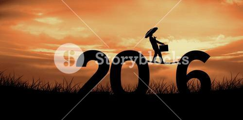 Composite image of businessman silhouette