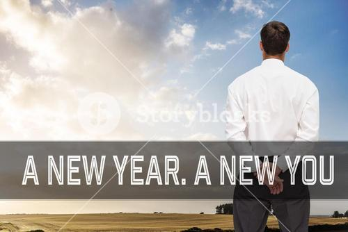 Composite image of motivational new years message