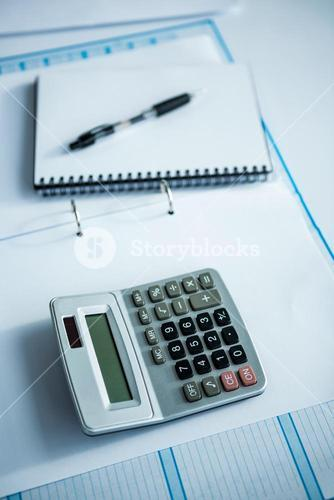 close up view of a business desk