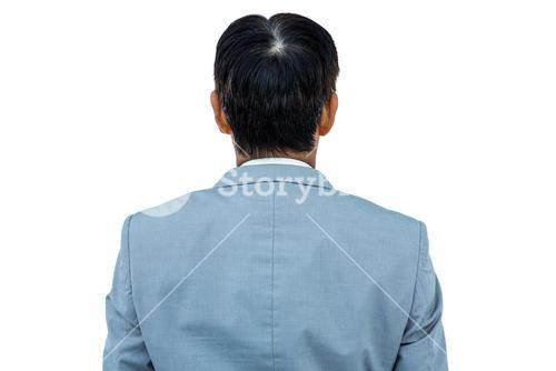 A back turned businessman