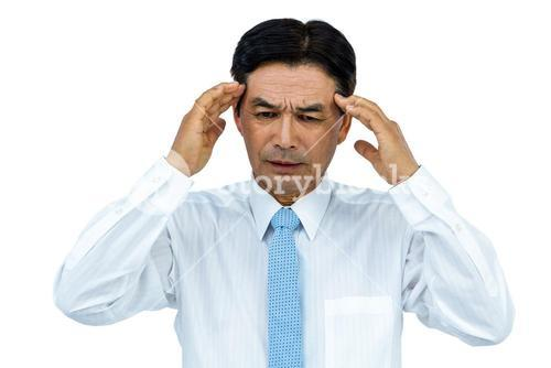 Businessman with severe headache