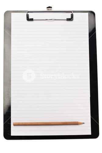 Pencil at the bottom of note pad