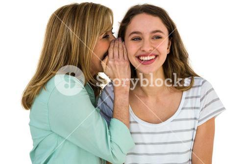 mother whispering something