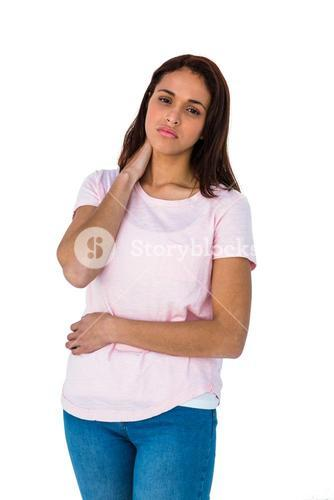 Girl having a stomach pain