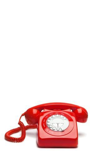 Oldfashioned red phone