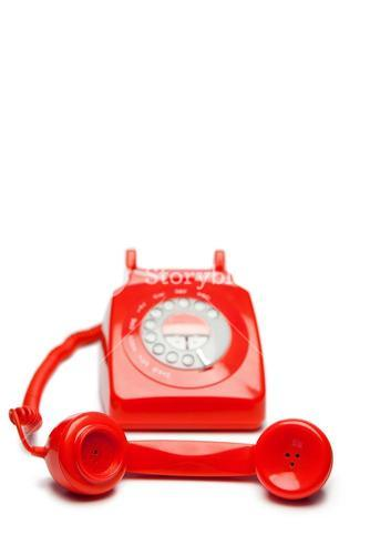 Oldfashioned red telephone
