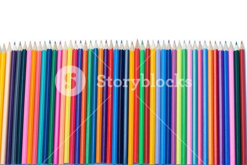 Color pencils vertical alignment