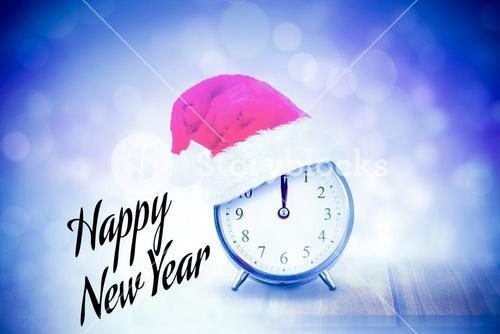 Composite image of new years greeting