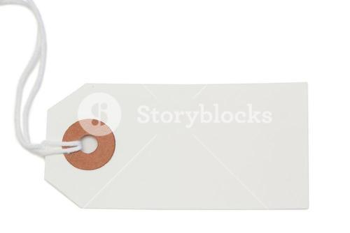 White tag isolated