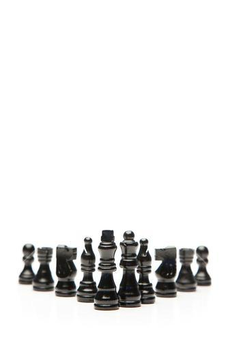 Black pieces of chess