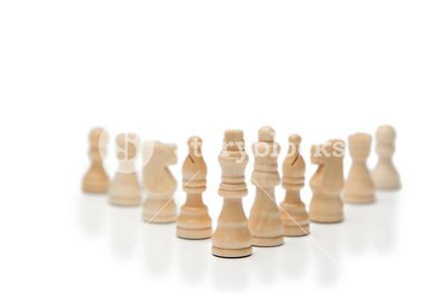 White pieces of chess