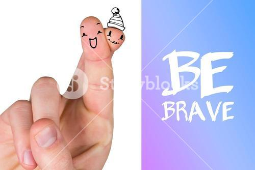Composite image of hand crossing fingers for luck